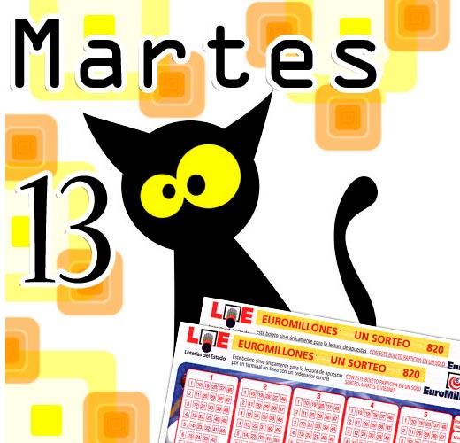 Este Martes 13, Euromillones sortea 168 millones de euros.