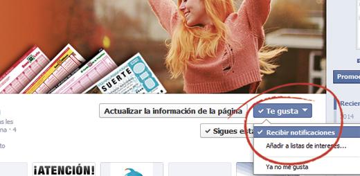 recibirNotificacionesFacebook